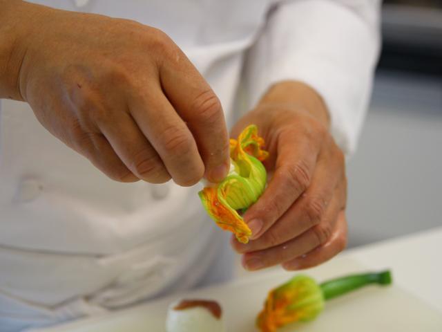 花ズッキーニのフリット|前菜 野菜を使った前菜|片岡護の本格