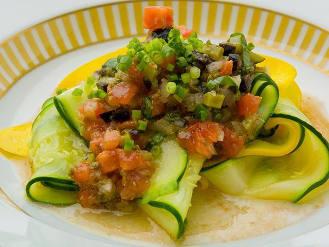 ズッキーニのスライス サラダ仕立て|前菜|片岡護の本格